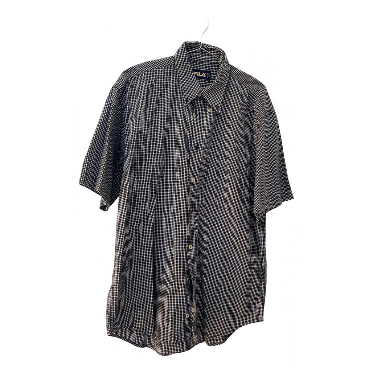 Fila - Chemises   pour homme en coton - bleu