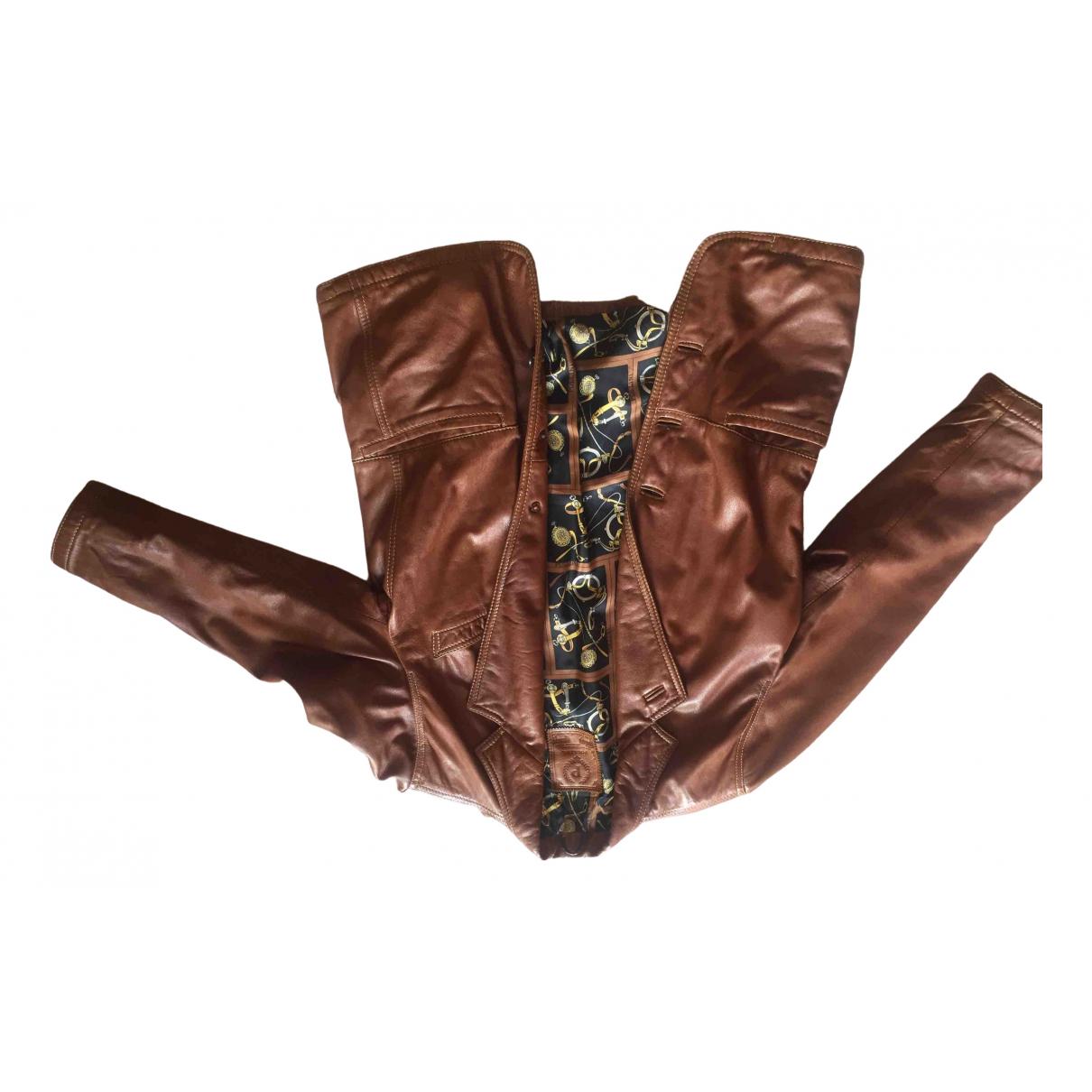 Pollini \N Leather jacket for Women 40 IT