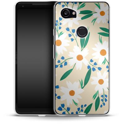 Google Pixel 2 XL Silikon Handyhuelle - Daisy Chain von Iisa Monttinen