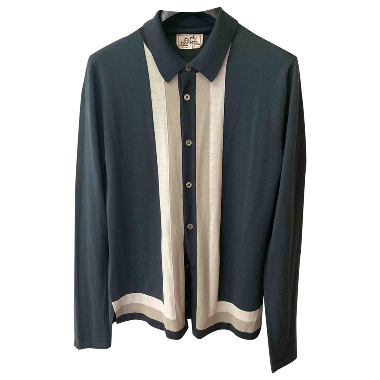 Hermes \N Pullover.Westen.Sweatshirts  in  Khaki Wolle