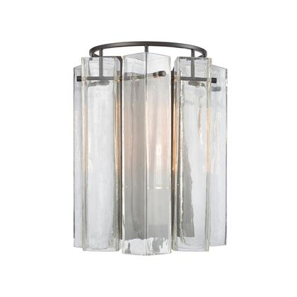 11160/1 Cubic Glass 1 Wall Sconce Oil Rubbed