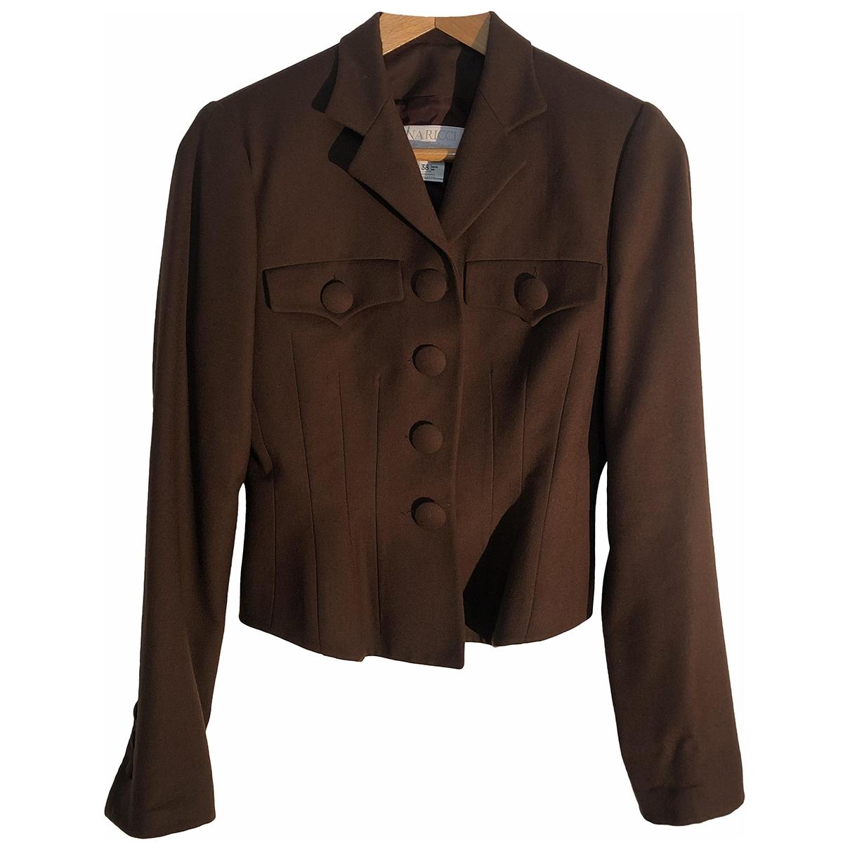 Nina Ricci - Veste   pour femme en laine - marron