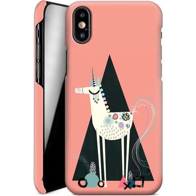 Apple iPhone XS Smartphone Huelle - Unicorn Triangle von Victoria Topping