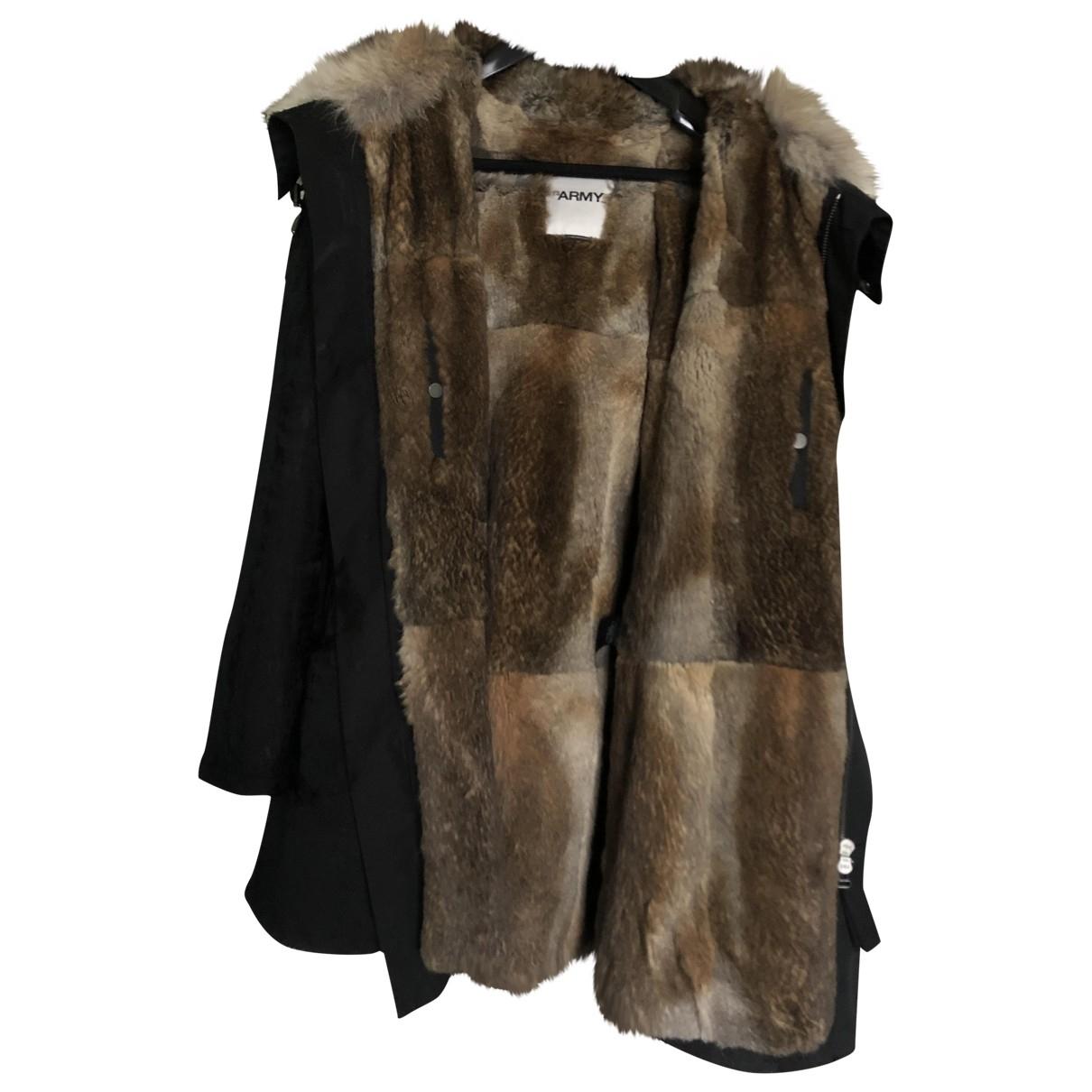 Army \N Blue Rabbit coat  for Men 46 FR