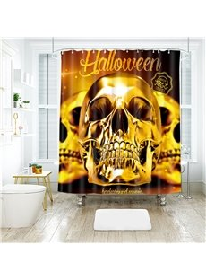 Three Skull Pattern Polyester Anti-Bacterial Shower Curtain