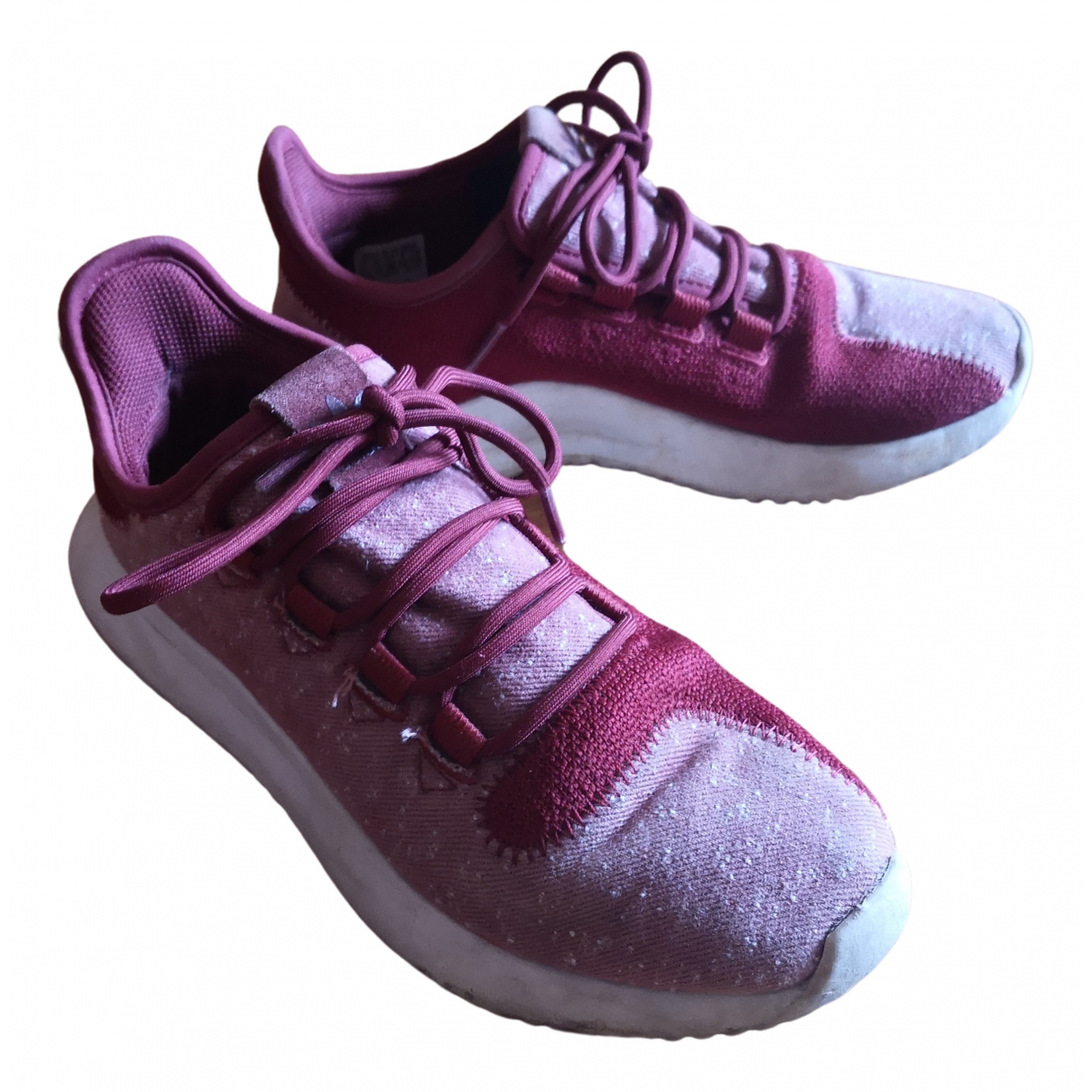 Adidas Tubular Sneakers in  Bordeauxrot Leinen