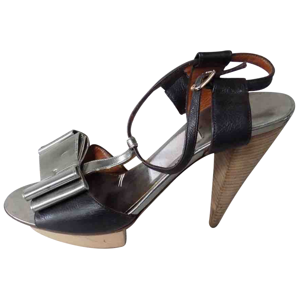 Lanvin \N Metallic Leather Heels for Women 39 IT