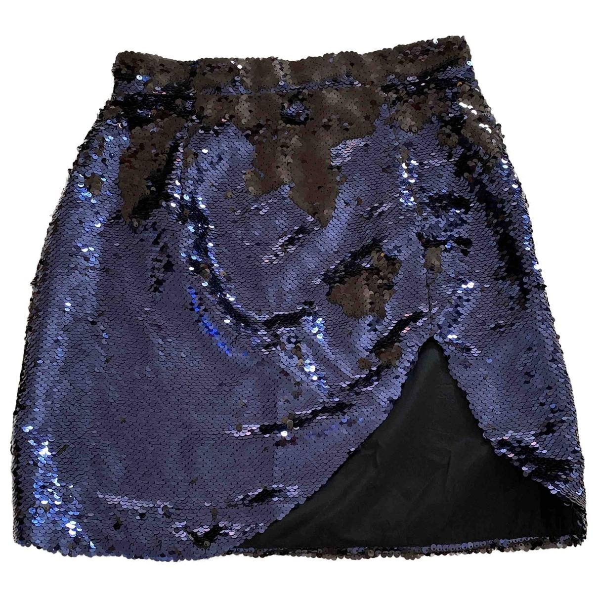 Amen Italy \N Blue Glitter skirt for Women 40 IT