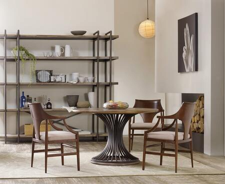 5382-CRDT4AC 5-Piece Studio 7H Collection Dinining Room Set with Cinch Round Dining Table + 4X Arm Chairs  in Light