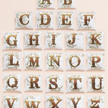 1pc Alphabet Print Cushion Cover Without Filler