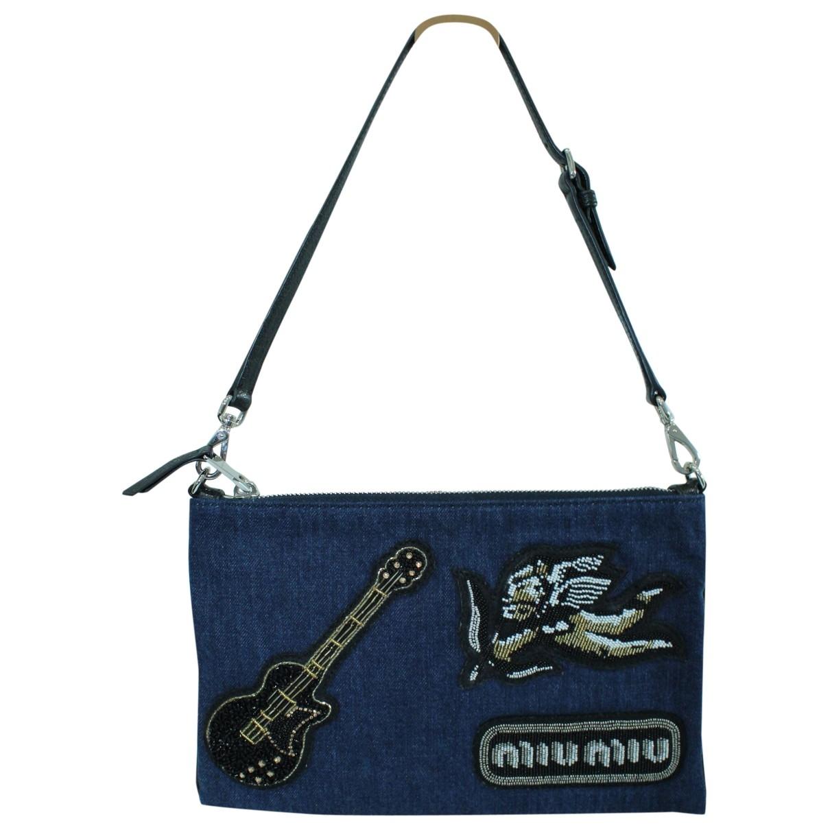 Miu Miu \N Blue Denim - Jeans Clutch bag for Women \N