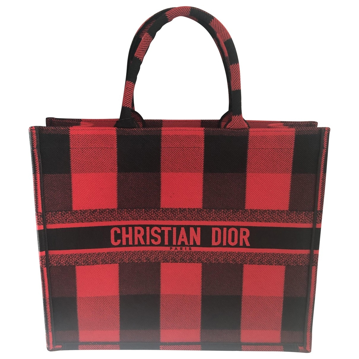 Dior Book Tote Red Cloth handbag for Women \N