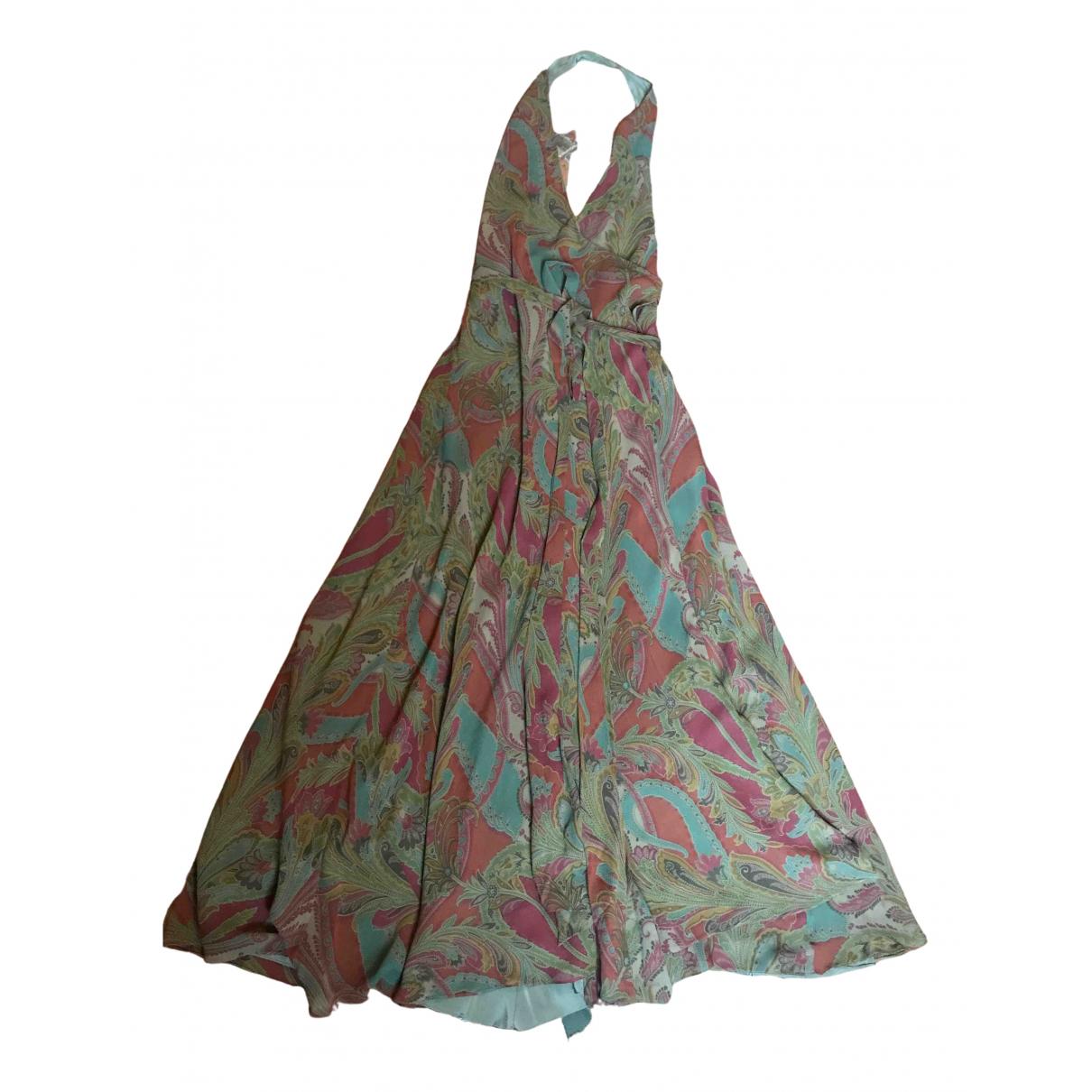 Ralph Lauren - Robe   pour femme en soie - vert
