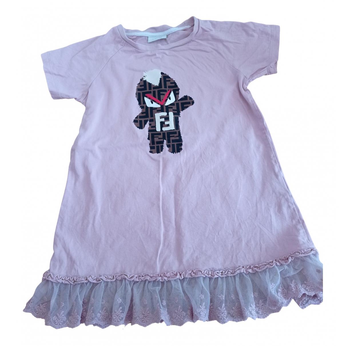 Fendi - Robe    pour enfant en coton - rose