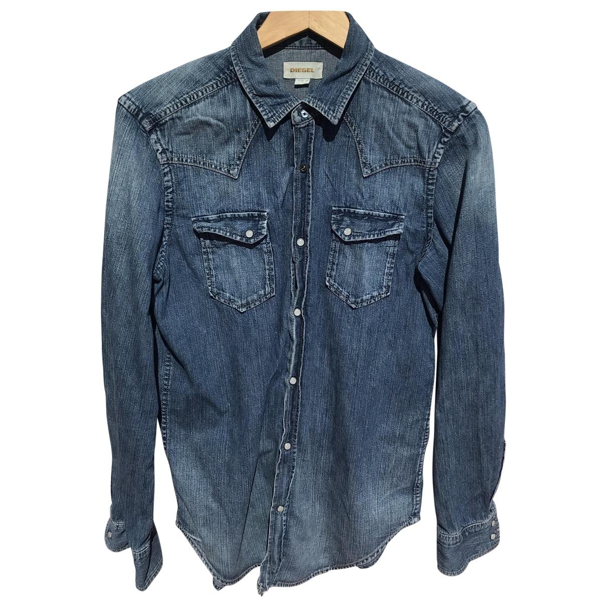 Diesel \N Blue Denim - Jeans Shirts for Men M International