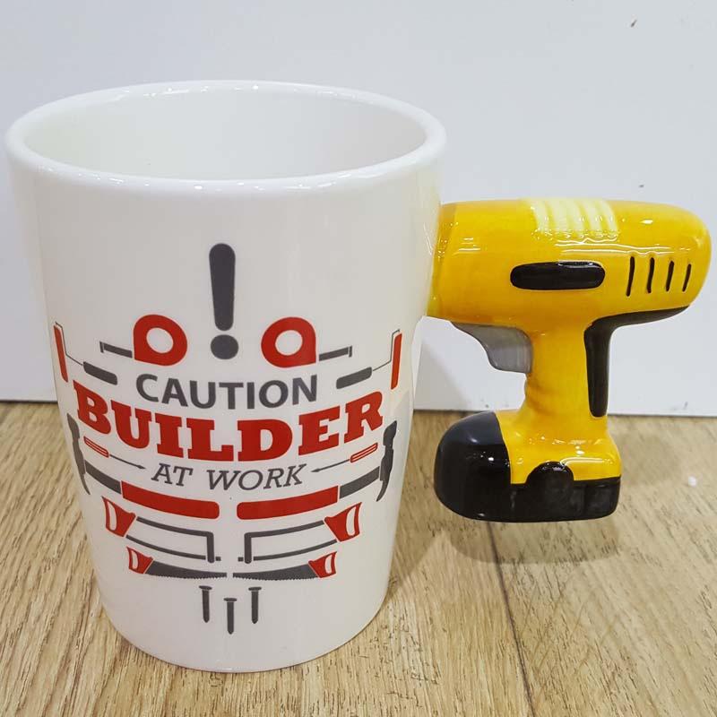 Funny Novelty Electric Drill Design Ceramic Creative Coffee Mug Gift