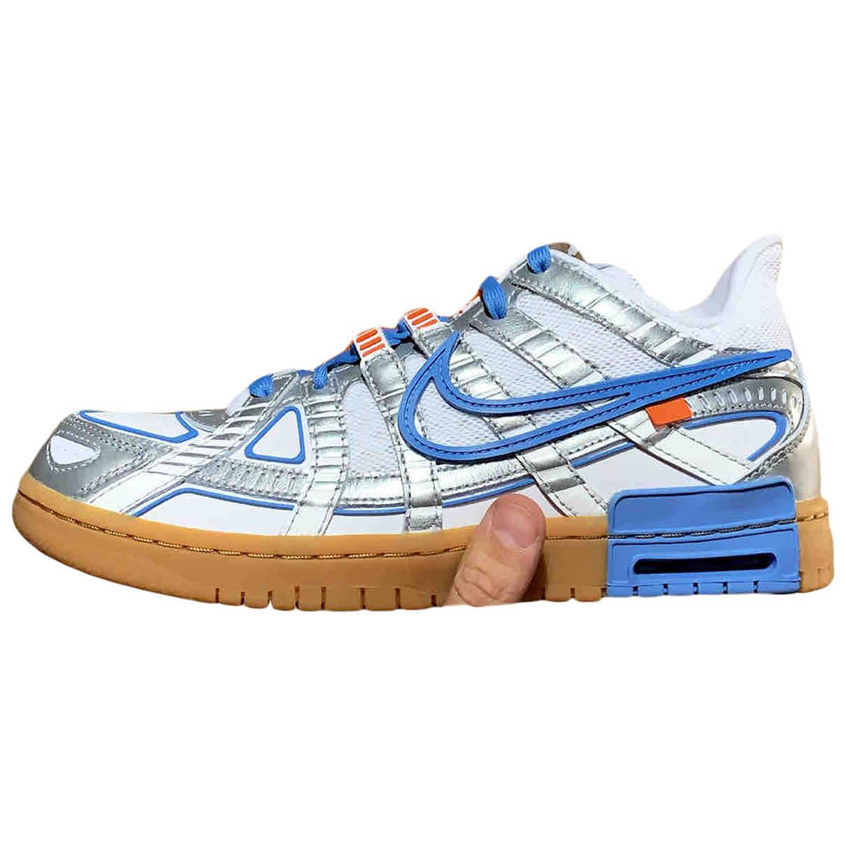 Nike X Off-white - Baskets Rubber Dunk pour homme en cuir - argente