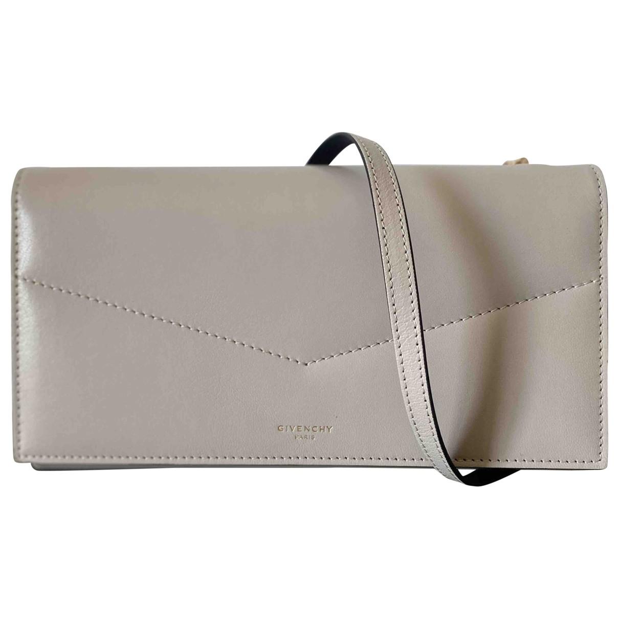 Givenchy \N Grey Leather Clutch bag for Women \N