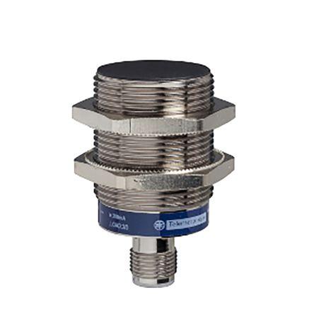 Telemecanique Sensors M30 x 1.5 Inductive Sensor - Barrel, NO Output, 15 mm Detection, IP67, IP69K, M12 - 4 Pin Terminal