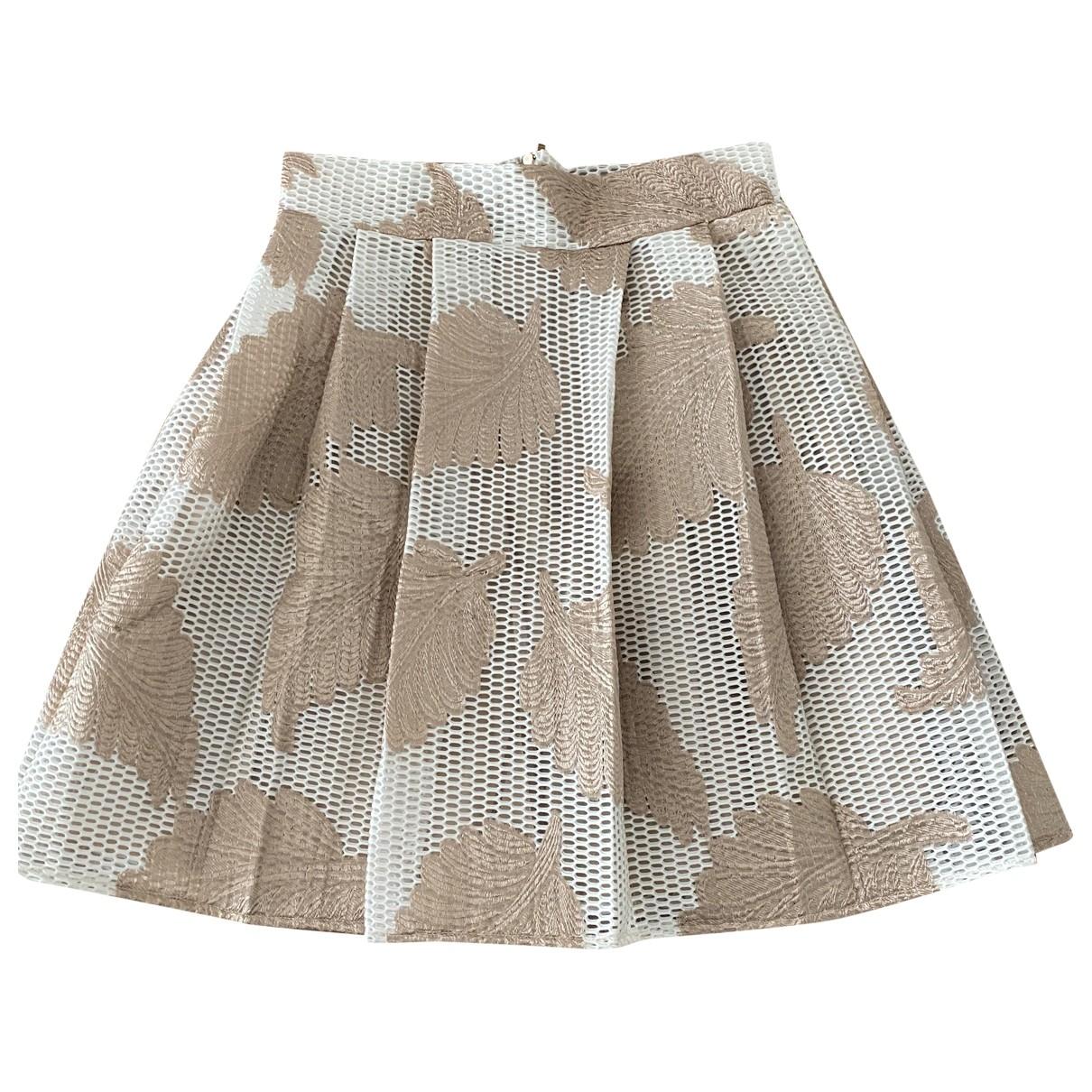 Non Signé / Unsigned \N Ecru skirt for Women 36 FR