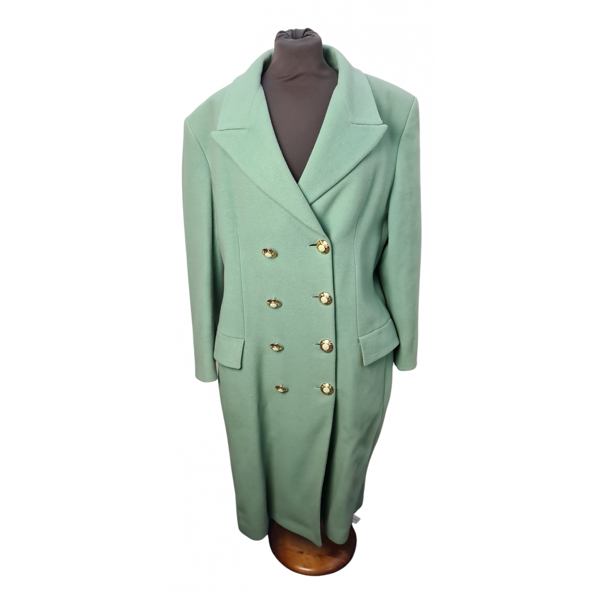 Versace Jeans N Turquoise Wool coat for Women L International