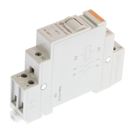 Finder , 24V ac Coil Non-Latching Relay DPNO, 20A Switching Current DIN Rail, 2 Pole