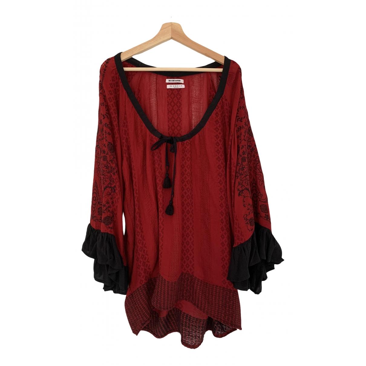 One Teaspoon \N Kleid in  Rot Viskose