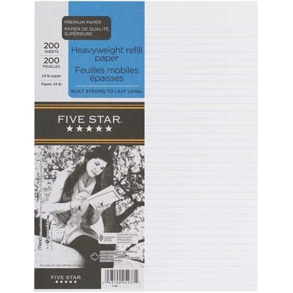 Five Star@ Ruled Loose-Leaf Sheets
