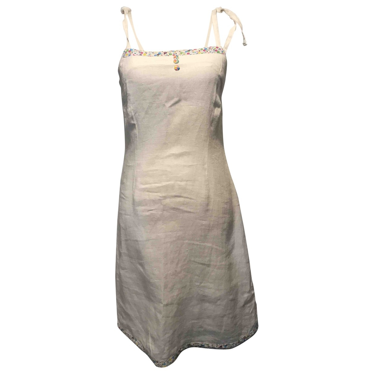 Non Signé / Unsigned \N White Linen dress for Women M International