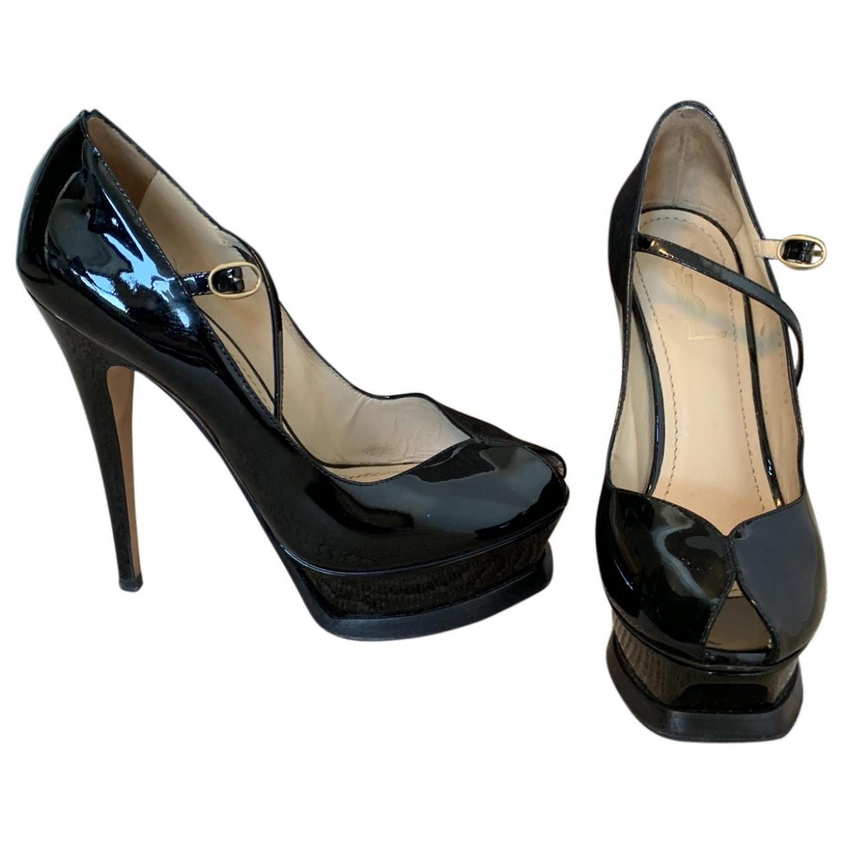Yves Saint Laurent Palais Black Patent leather Heels for Women 38 EU