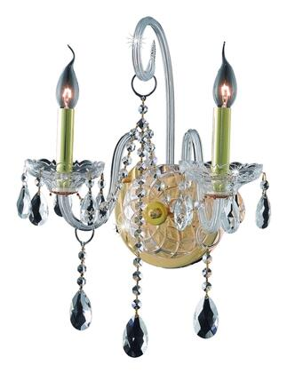 7952W2G/SA 7952 Verona Collection Wall Sconce W14in H20in E8.5in Lt: 2 Gold Finish (Swarovski Spectra