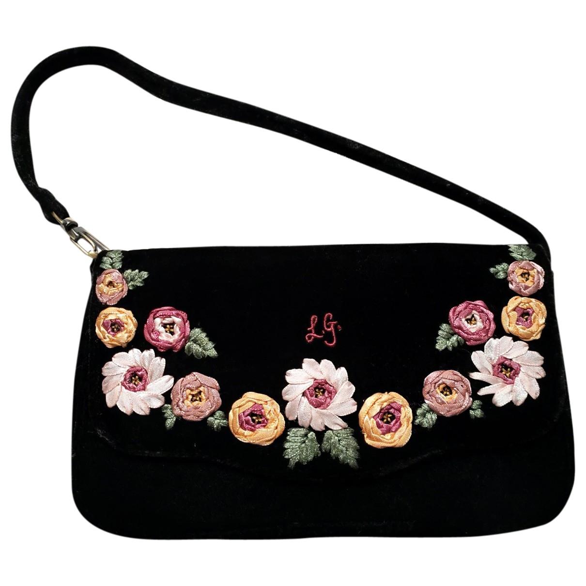 Lulu Guinness \N Handtasche in  Schwarz Samt