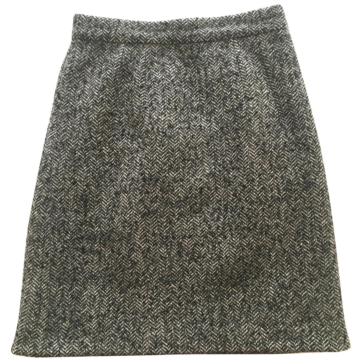 Dolce & Gabbana N Grey Wool skirt for Women 40 IT