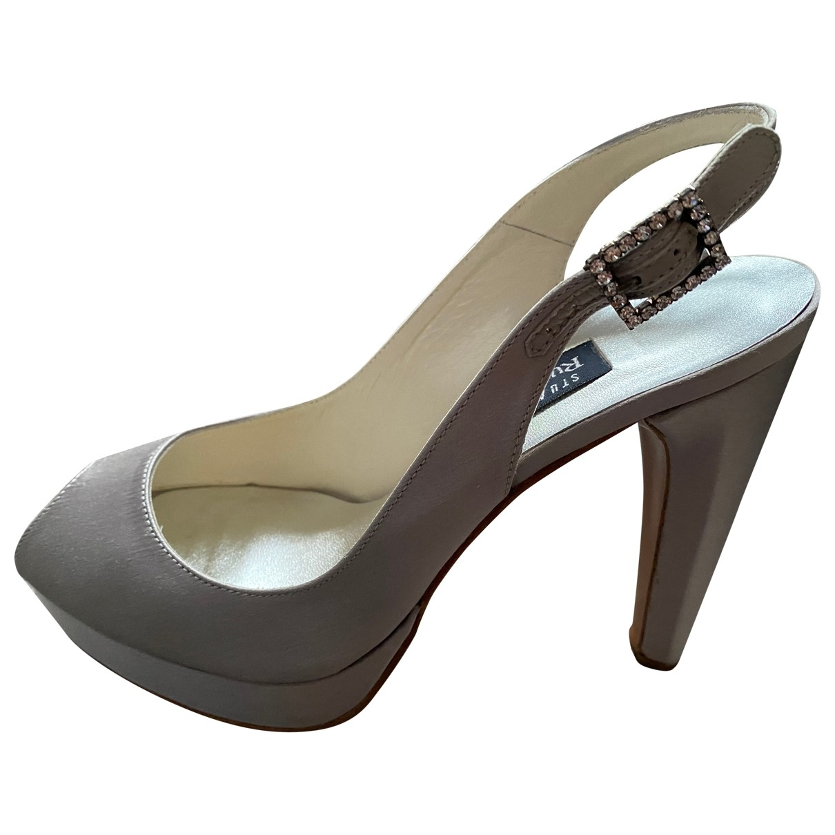 Stuart Weitzman \N Grey Cloth Heels for Women 38 EU