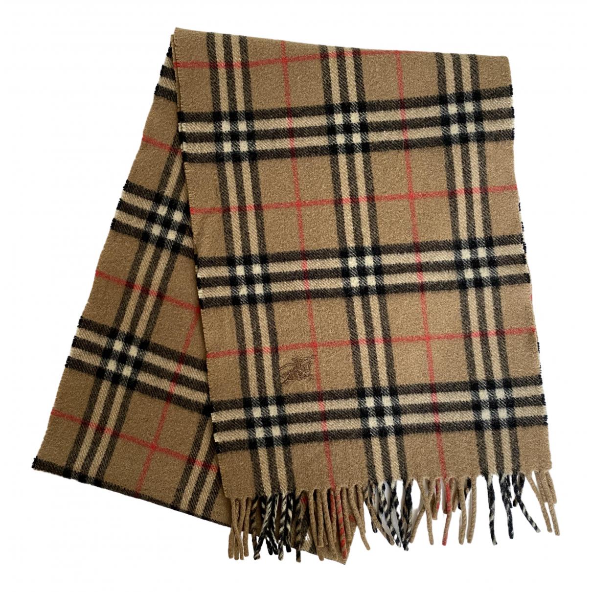 Burberry \N Beige Wool scarf & pocket squares for Men \N