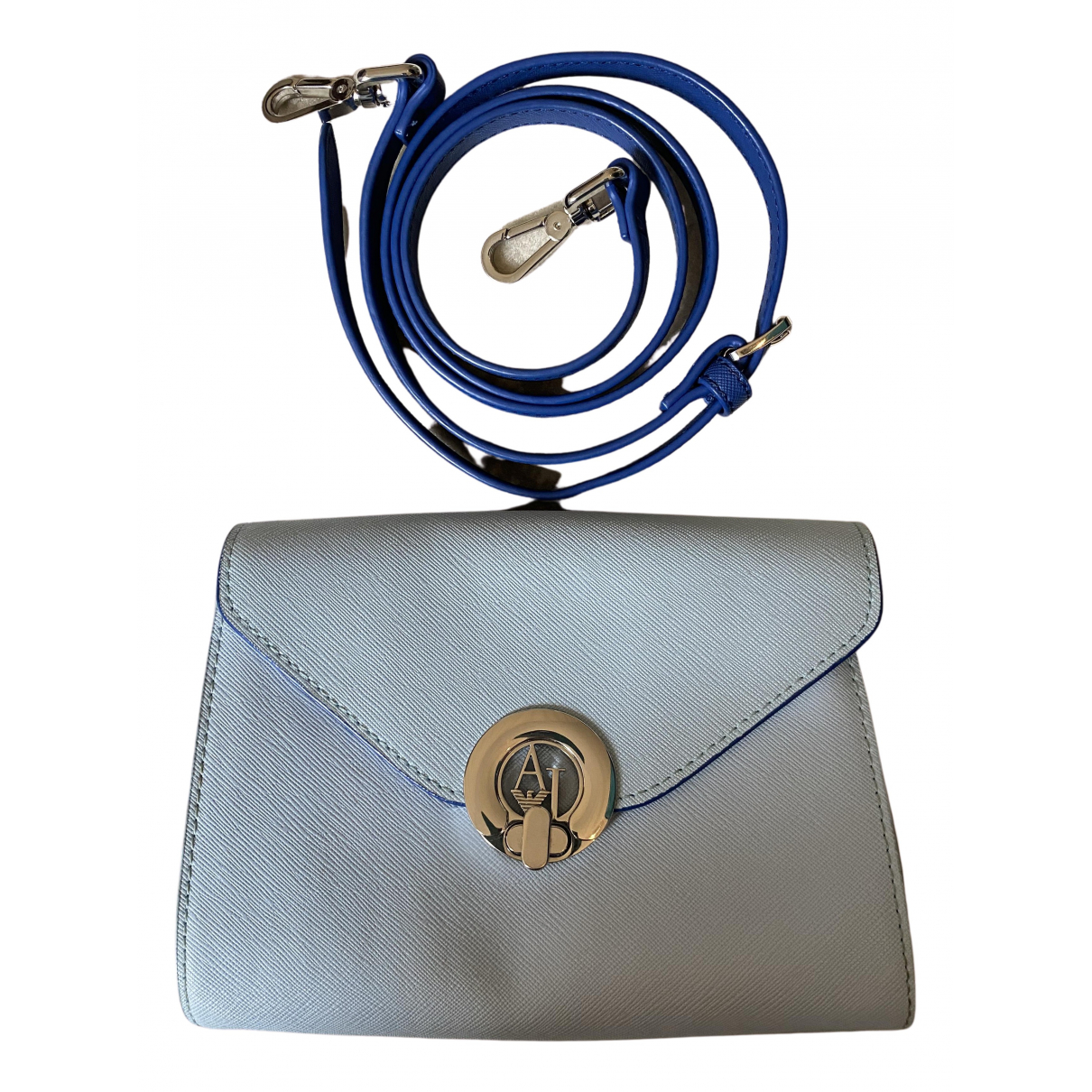 Armani Jeans \N Handtasche in  Blau Leder