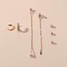 7 piezas pendientes con diamante de imitacion