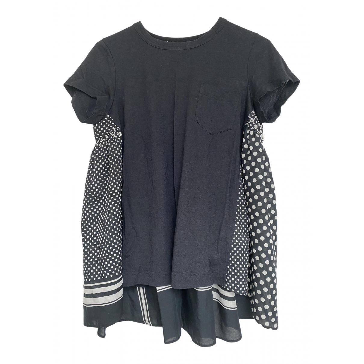 Sacai \N Black Linen  top for Women 3 0-5