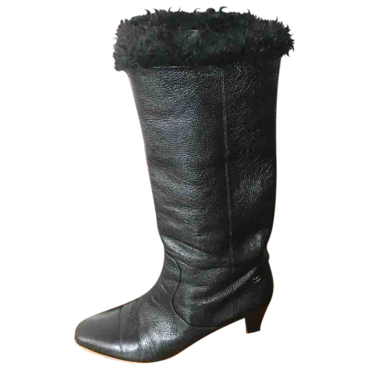 Chanel \N Black Leather Boots for Women 41 EU