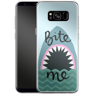 Samsung Galaxy S8 Silikon Handyhuelle - Bite Me von caseable Designs