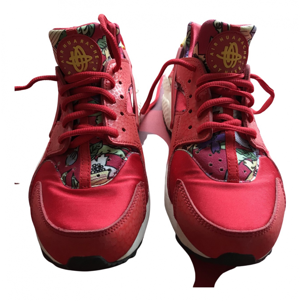 Nike Huarache Red Cloth Trainers for Women 38.5 EU
