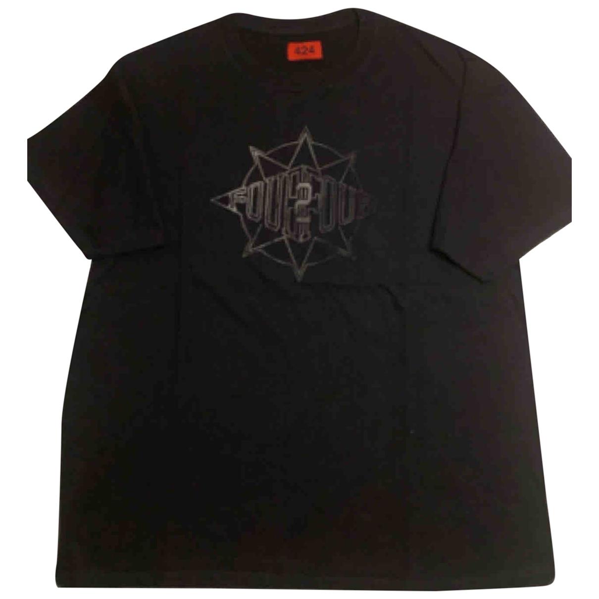 424 - Tee shirts   pour homme en coton - noir