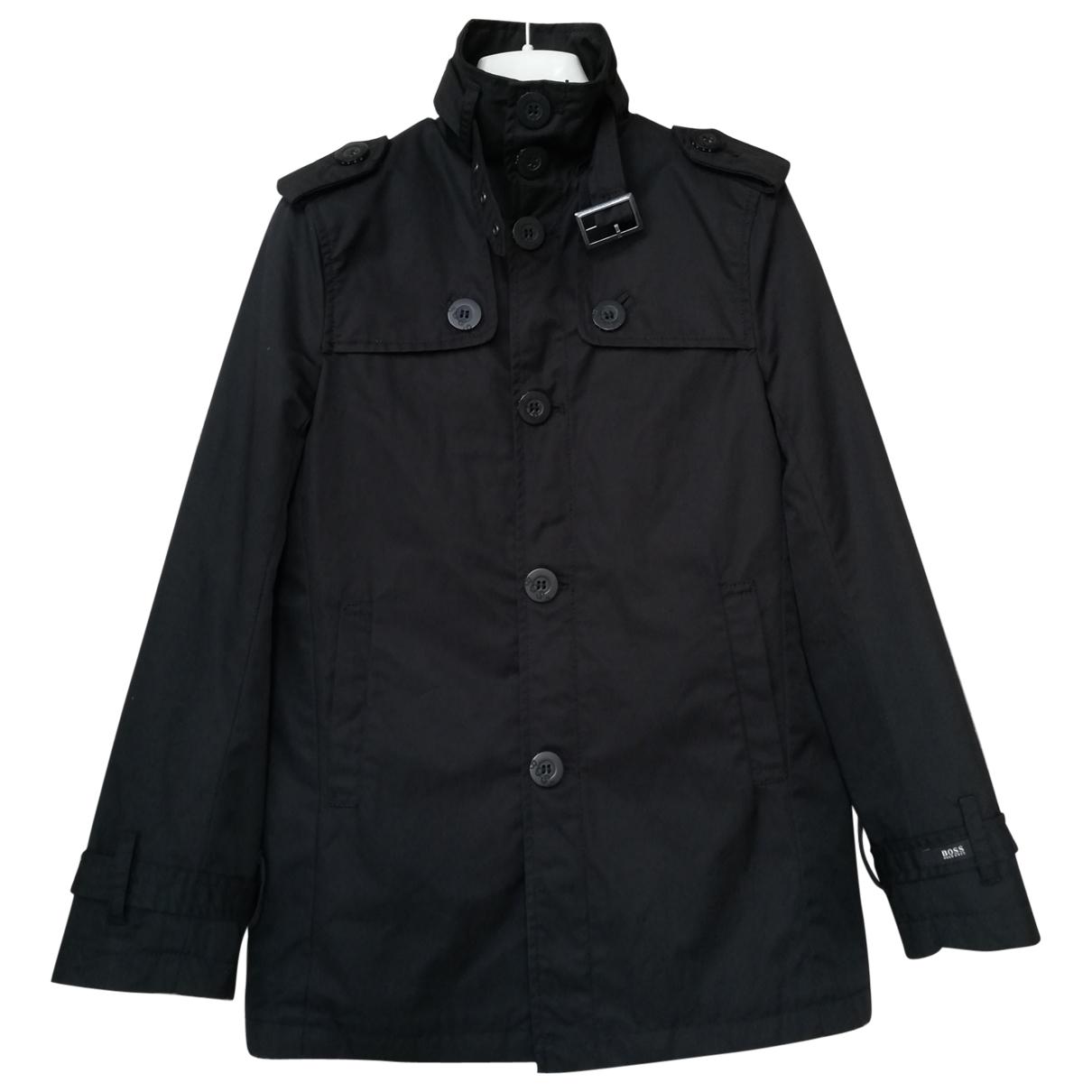 Boss - Blousons.Manteaux   pour enfant en coton - noir