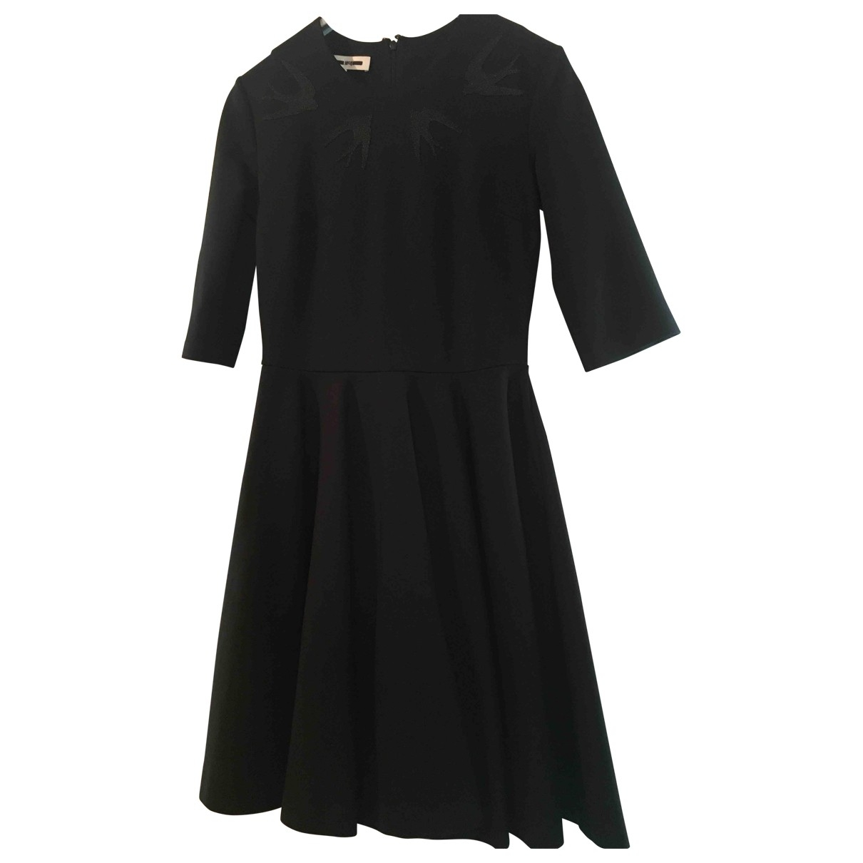 Mcq \N Kleid in  Schwarz Baumwolle - Elasthan