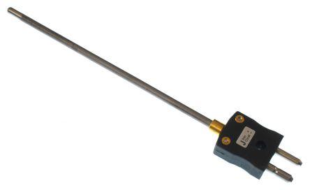 RS PRO Type J Thermocouple 150mm Length, 4.5mm Diameter → +1100°C