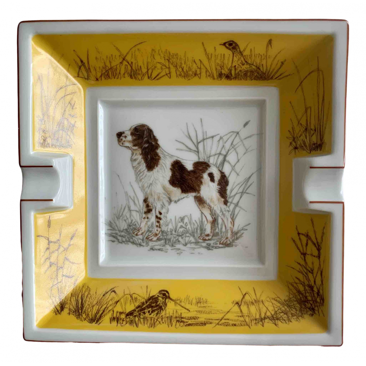 Hermès \N Yellow Porcelain Home decor for Life & Living \N
