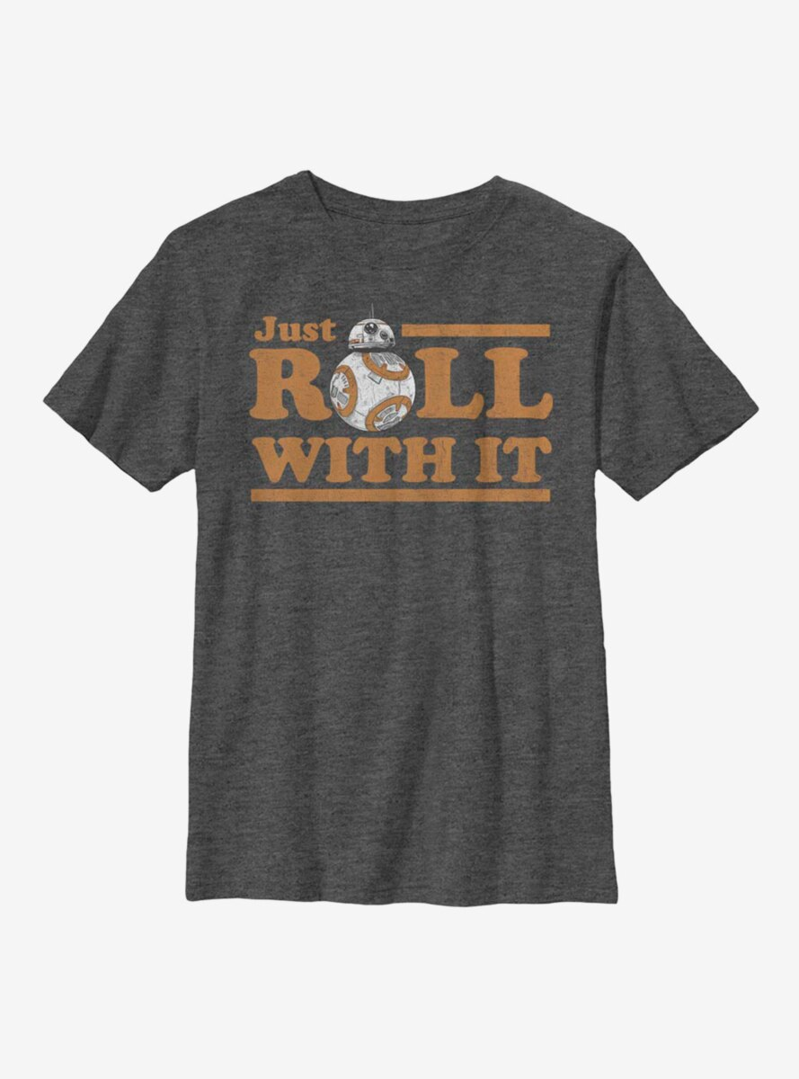 Star Wars Episode VIII The Last Jedi Just Roll Youth T-Shirt