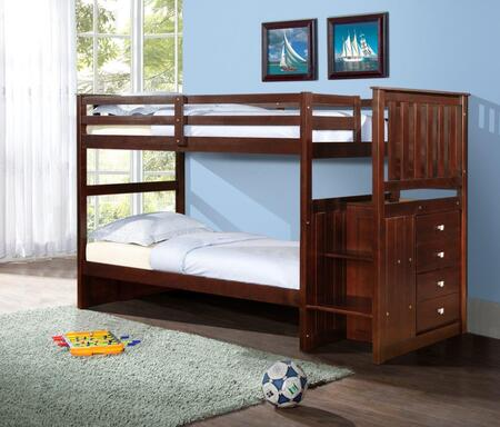 820-TTCP Mission Stairway Bunkbed