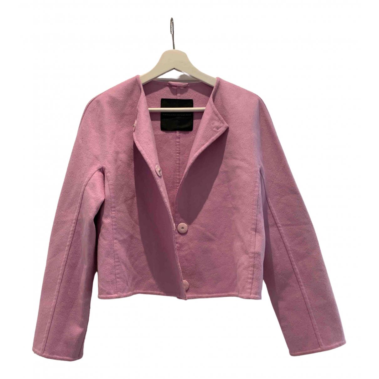 Ermanno Scervino \N Pink Wool jacket for Women 38 IT