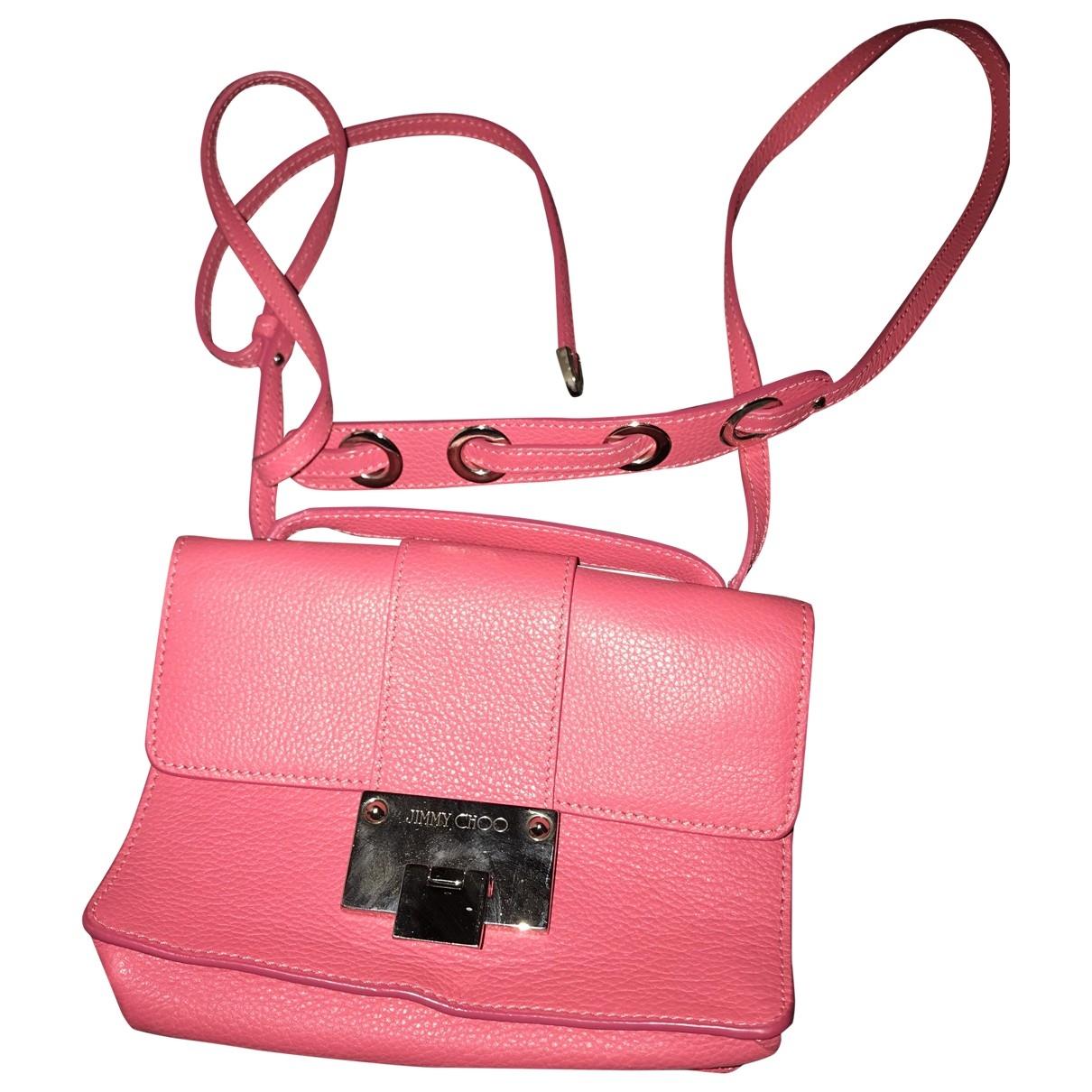 Jimmy Choo Rebel Handtasche in  Rosa Leder